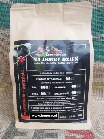 Kawa mielona Dolla -  Na Dobry Dzień BLEND: ARABICA 80%, ROBUSTA 20%