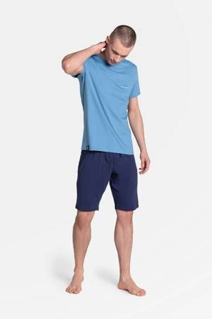 Piżama męska Henderson Duty niebieska krótki rękaw